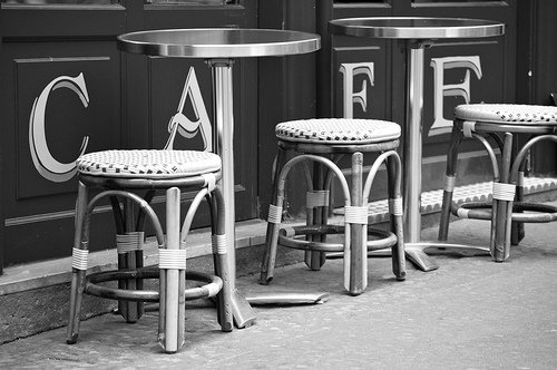 cafe table BW