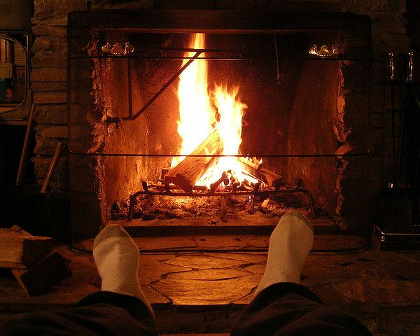 fire in the winter