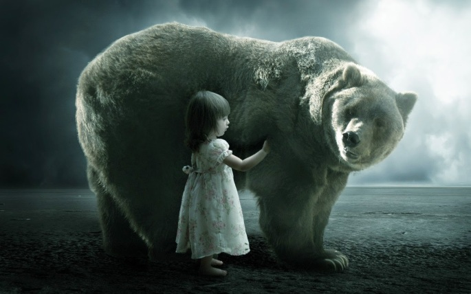 bear and a girl